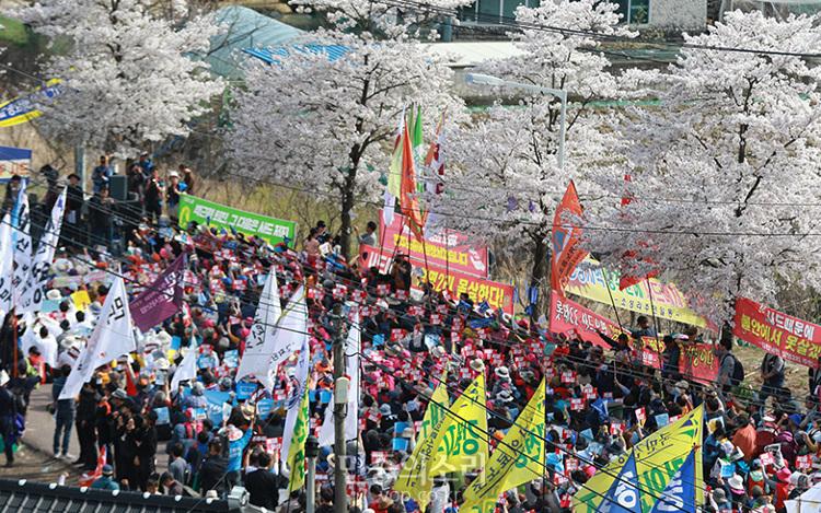 韓国 現地でサード配備反対集会 戦争阻止の決意固く – ZNN.JP